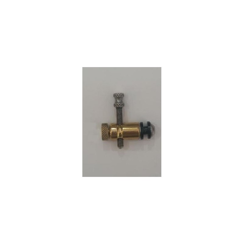 Front contact gold, silver screw