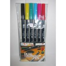 Rotuladores Tombow estuche 6 colores primarios