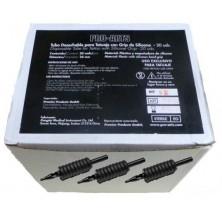 Caja tubos desechables punta redonda 20 mm