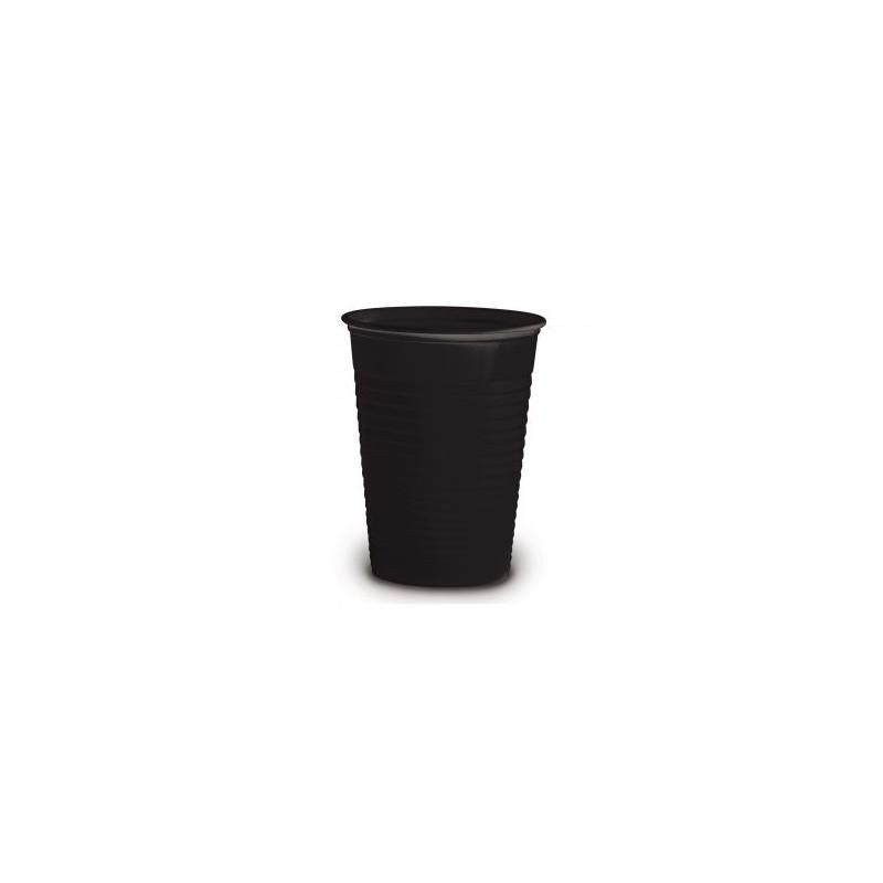 Vaso plástico negro