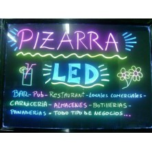 Pizarra led de pared 50 x 70