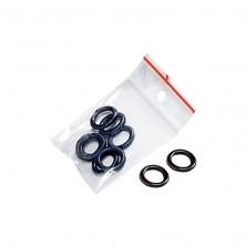 O-ring. Juntas de goma para tensar el muelle de la máquina de bobina. Bolsa de 10 piezas de color negro.