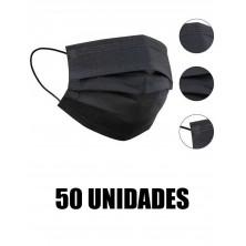 Mascarilla negra quirúrgica 50 unid