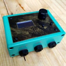 OM TATTOO DISTRESSED LIGHT TURQUOISE CON SENSOR (ACID BRASS PLATE SPECIAL)