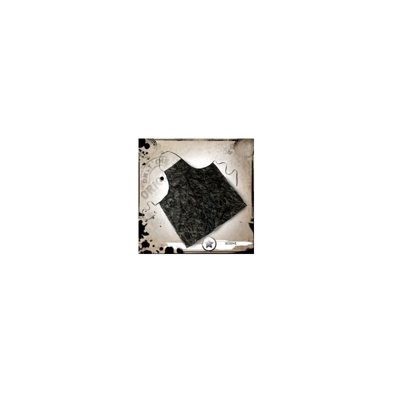 Delantal desechable negro 10 unidades